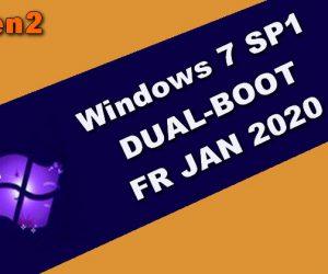 Windows 7 SP1 DUAL-BOOT FR JAN 2020
