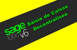 Sage 100C Saisie de Caisse Decentralisee v6.00