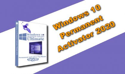 windows 10 Permanent Activator 2020