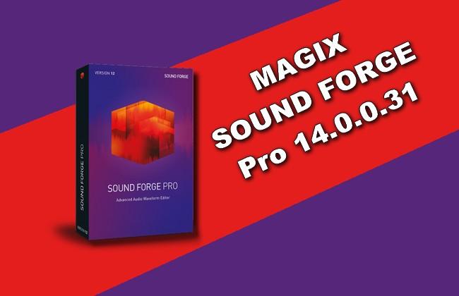 Photo of MAGIX SOUND FORGE Pro 14.0.0.31