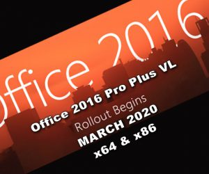 Office 2016 Pro Plus VL MARCH 2020