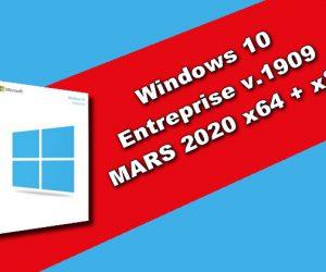 Windows 10 Entreprise v.1909 MARS 2020