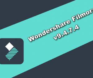 Wondershare Filmora v9.4.7.4 Torrent