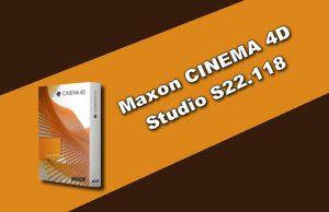 Maxon CINEMA 4D Studio S22.118