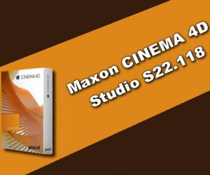 Maxon CINEMA 4D Studio S22.118