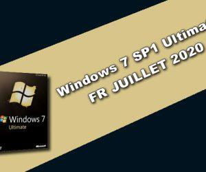 Windows 7 SP1 Ultimate FR JUILLET 2020