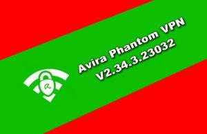 Avira Phantom VPN v2.34.3.23032