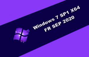 Windows 7 SP1 X64 FR SEP 2020