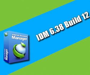 IDM 6.38 Build 12 Torrent