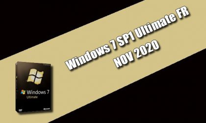Windows 7 SP1 Ultimate FR NOV 2020