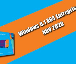 Windows 8.1 X64 Entreprise NOV 2020