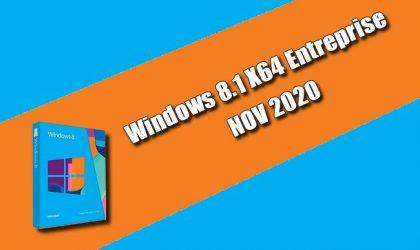 Windows 8.1 X64 Entreprise NOV 2020