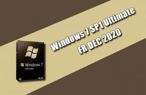 Windows 7 SP1 Ultimate FR DEC 2020