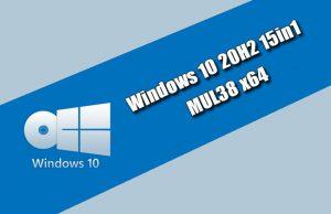 Windows 10 20H2 15in1 MUL38 x64