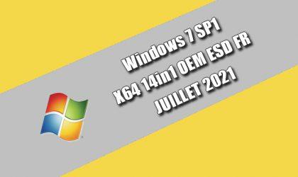 Windows 7 SP1 X64 14in1 OEM ESD FR JUILLET 2021